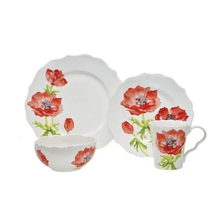 222 Fifth Anemone Porcelain 16-piece Dinnerware Set