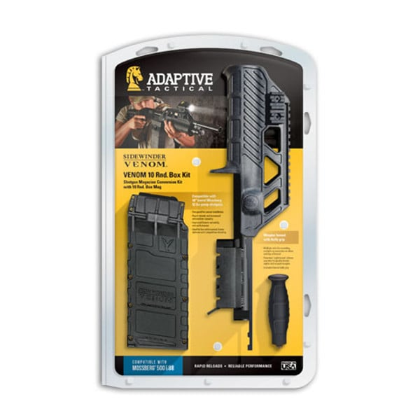 Adaptive Tactical Venom Mossberg 500/88 Shotgun Magazine Conversion Kit with 10rd Box Mag and Wraptor Forend