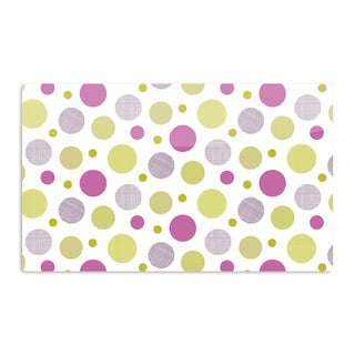 KESS InHouse Julie Hamilton 'Rhapsody Dot' Pink Yellow Artistic Aluminum Magnet