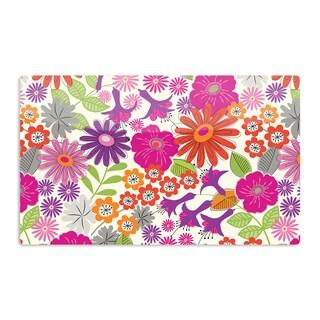 KESS InHouse Jacqueline Milton 'Lula - Tropical' Pink White Artistic Aluminum Magnet
