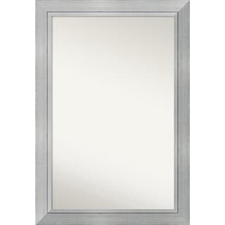 Wall Mirror Choose Your Custom Size - Oversized, Romano Silver Wood - Silver/Black