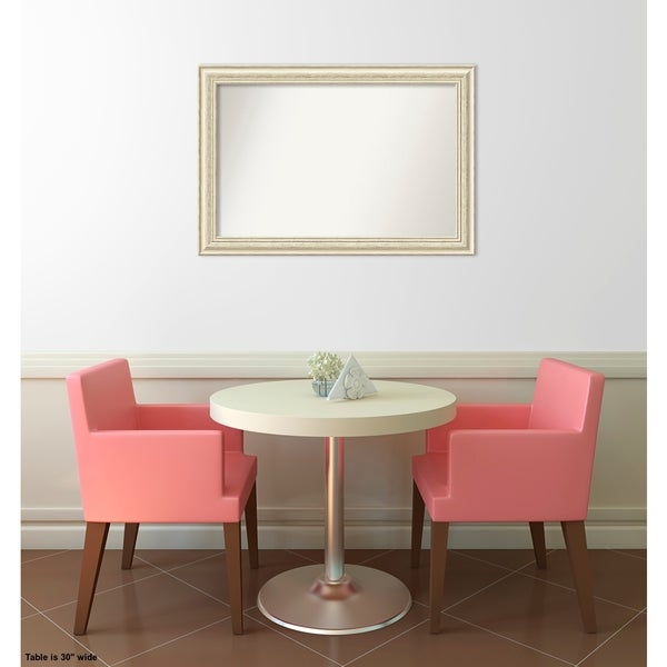Wall Mirror Choose Your Custom Size - Medium, Country White wash Wood