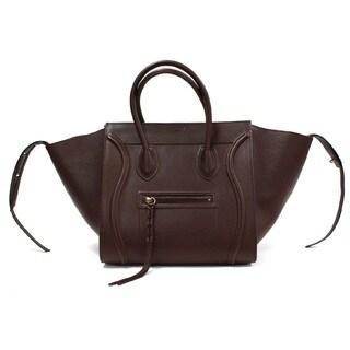 Celine Phantom Brown Smooth Leather Medium Luggage Tote Bag