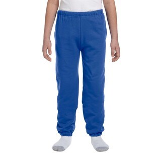 Super Sweats Boys' Royal Polyester Sweatpants with Pockets