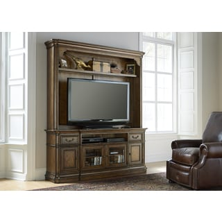 Amelia Antique Toffee Entertainment Center