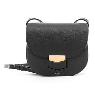 Celine Small Trotteur Black Crossbody Handbag