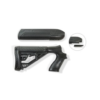 Adaptive Tactical EX Performance Forend and M4 Style Stock for Mossberg 500/590 12g, Black