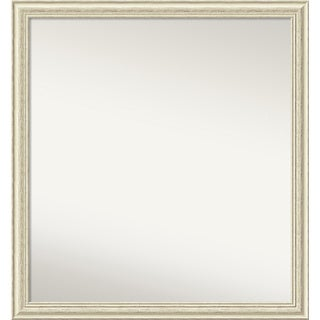 Wall Mirror Choose Your Custom Size - Large, Country Whitewash Wood - White Washed