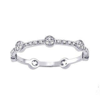 10k White Gold 1/4ct TDW Diamond Stackable Eternity Band Ring