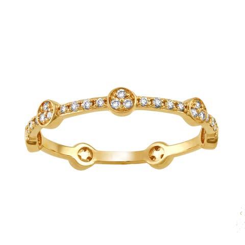 10k Yellow Gold 1/4ct TDW Diamond Stackable Eternity Band Ring