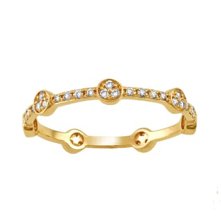 Beverly Hills Charm 10k Yellow Gold 1/4ct TDW Diamond Stackable Eternity Band Ring