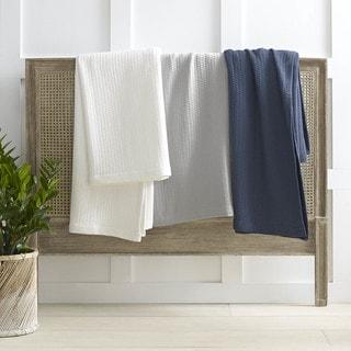 Nautica Baird Diamond Knit Cotton Twill Blanket