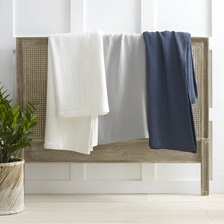 Nautica Baird Diamond Knit Cotton Twill Blanket