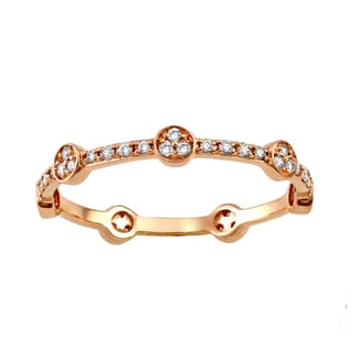 Beverly Hills Charm 10k Pink Gold 1/4ct TDW Diamond Stackable Eternity Band Ring