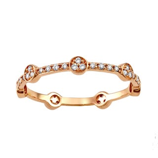 10k Rose Gold 1/4ct TDW Diamond Stackable Eternity Band Ring