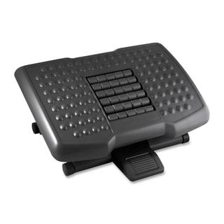 Kantek Premium Ergonomic Footrest with Rollers - Black
