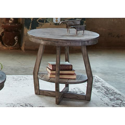 The Gray Barn Rosings Park Grey Wash Round End Table