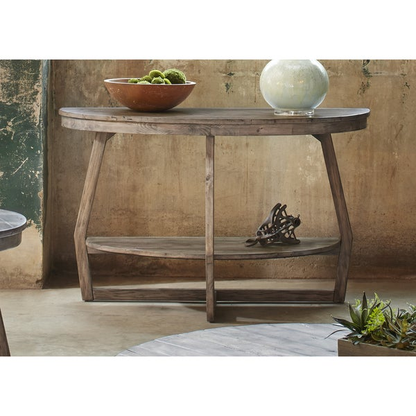 Big Round Reclaimed Wood Coffee Table 2 Sizes: Hayden Way Gray Wash Reclaimed Wood Round Sofa Table