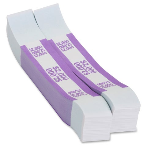 Coin-Tainer Currency Straps - Violet (1000/Box)