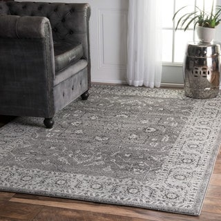 nuLOOM Traditional Border Bouquet Area Rug