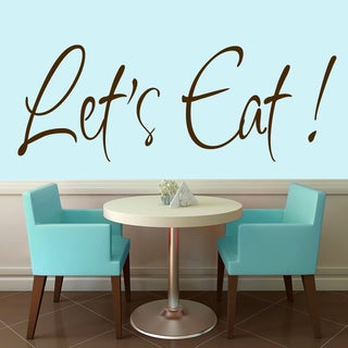 "Let's Eat Wall Decal - 60"" wide x 22"" tall"