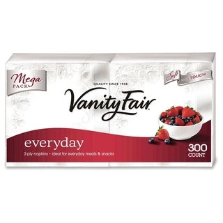 Vanity Fair Everyday Napkins - White (300/Pack)