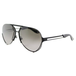 Givenchy GV 7014 003 Interchangeable Lens Matte Black Metal Grey Gradient and Yellow Lens Aviator Sunglasses