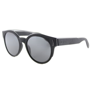 Givenchy GV 7017 VET Black Grey Lens Round Sunglasses