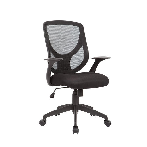 pacific black adjustable swivel office chair with mesh seat and back