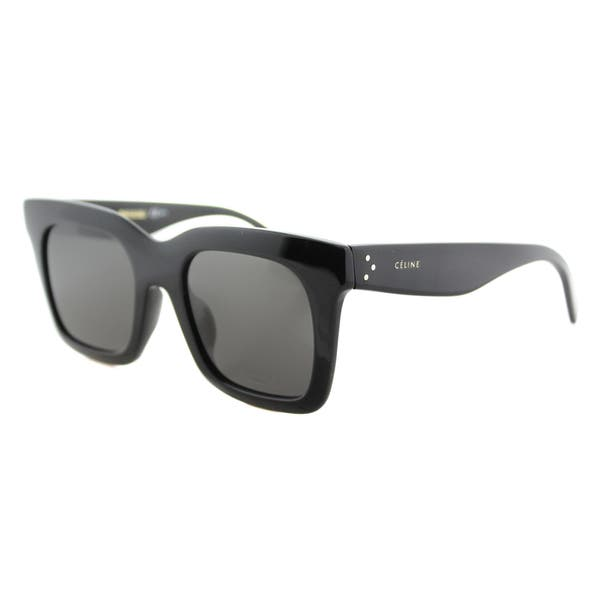 eebbda757659 Shop Celine CL 41411/F 807 Luca Black Brown Lens Square Sunglasses - Free  Shipping Today - Overstock - 12129818