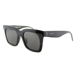 Celine CL 41411/F 807 Luca Black Brown Lens Square Sunglasses