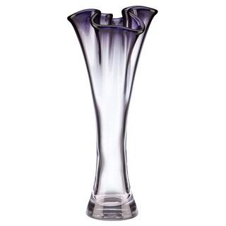 Lenox Organics Ruffle Purple Crystal Cylinder Vase