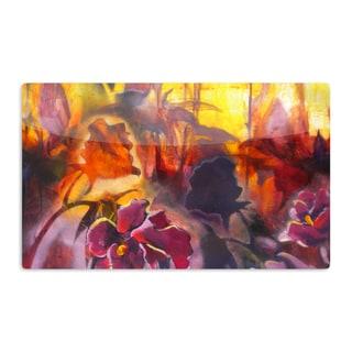 KESS InHouse Kristin Humphrey 'Release' Pink Orange Artistic Aluminum Magnet
