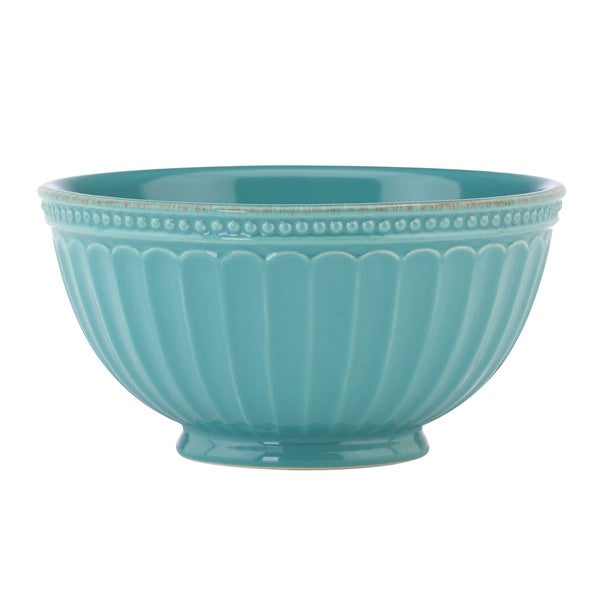 Lenox French Perle Groove Bluebell Bowl