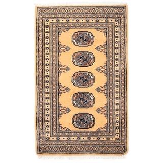 Herat Oriental Pakistani Hand-knotted Bokhara Wool Rug (2' x 3'3)