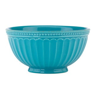 Lenox French Perle Groove Peacock Bowl