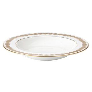 Lenox Prismatic Gold Bone China Pasta/Rim Soup Bowl