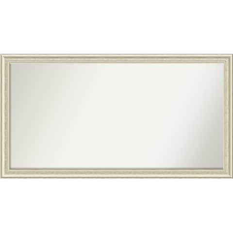 Wall Mirror Choose Your Custom Size-Oversized, Country White wash Wood