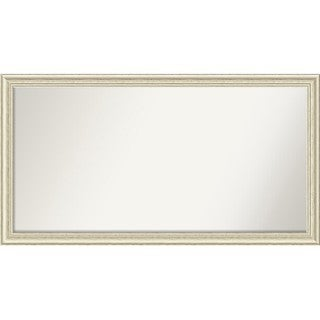 Wall Mirror Choose Your Custom Size-Oversized, Country White wash Wood - White Washed