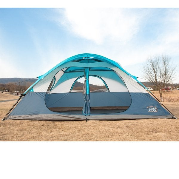 TimberRidge Polyester 2-door/2-room Family C&ing Tent with Carry Bag  sc 1 st  Overstock.com : timber ridge tent - memphite.com