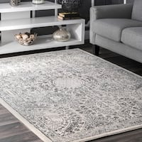 nuLOOM Traditional Honeycomb Grey Rug - 9' x 12'