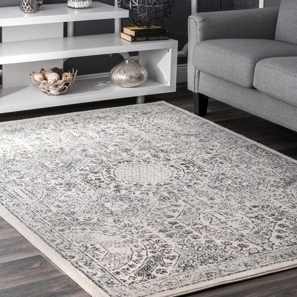 Shop Nuloom Traditional Honeycomb Grey Rug 9 X 12 On