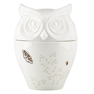 Lenox Butterfly Meadow Figural Owl Cookie Jar