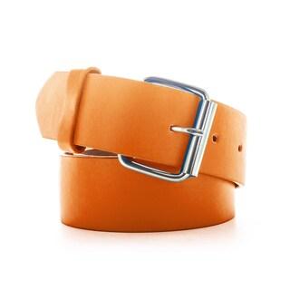 Faddism Unisex Green/Yellow/Orange Genuine Leather Belt