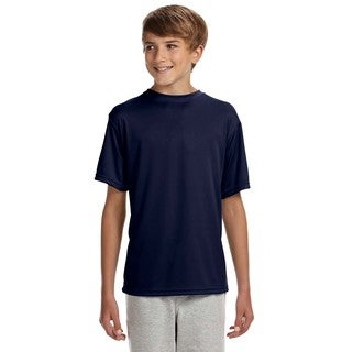 Youth Blue Polyester Performance T-shirt