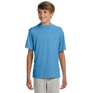 Cooling Boys' Light Blue Polyester Performance T-shirt