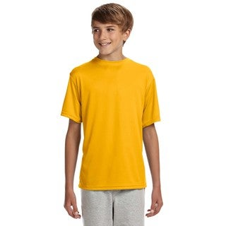 Cooling Youth Performance Gold Polyester T-Shirt