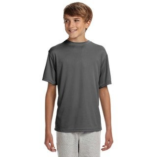 Cooling Boys' Graphite Polyester Performance T-shirt