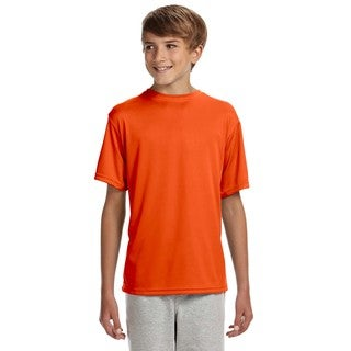 Cooling Boys' Orange Polyester Athletic Performance T-shirt