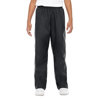 Conquest Boys' Black Polyester Athletic Woven Pants